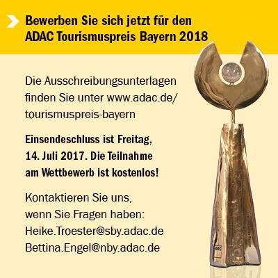 Banner ADAC Tourismuspreis Bayern