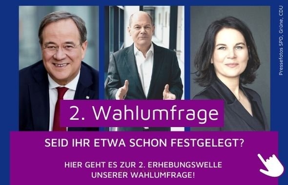 Banner Wahlumfrage Bundestagswahl 2021